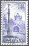 Sellos de Europa - España -  Monasterio de la Veruela. Calvario y puerta exterior.