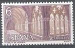 Sellos de Europa - España -  Monasterio de la Veruela. Claustro gótico.