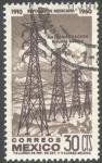 Stamps America - Mexico -  Revolución mexicana 1910 - 1960. Nacionalización de la Industria Eléctrica.