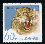 Stamps Asia - North Korea -  leopardo