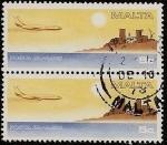 Stamps Malta -  Avión - Isla
