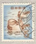 Sellos de Asia - Japón -  pato mandarin