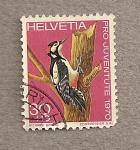 Sellos de Europa - Suiza -  Pájaro carpintero