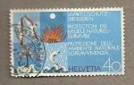 Sellos de Europa - Suiza -  Protección medio ambiente