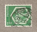 Stamps Switzerland -  Medallón