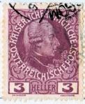 Stamps Austria -  1913 60 Aniversario del reinado de Francisco Jose: Jose II, papel sin brillo