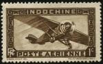 Sellos del Mundo : Europa : Francia : Indochina, colonia francesa de Asia. Aeroplano monomotor. Correo Aéreo.