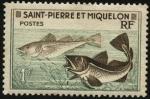 Sellos de America - San Pierre & Miquelon -  Peces Bacalao.