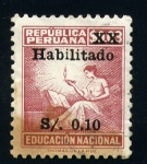 Stamps of the world : Peru :  educación nacional