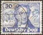 Stamps Germany -  goethe, II centº de su nacimiento