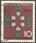 Sellos del Mundo : Europa : Alemania : 310 - Formula del benzol y homenaje a friedrich kekule