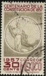 Sellos de America - México -  100 años de la constitución de 1857.