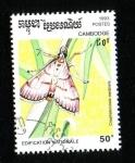 Stamps Asia - Cambodia -  Lepidoptero