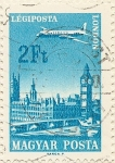Stamps Hungary -  LONDON