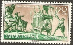 Stamps : Africa : Morocco :  Sahara - Don Quijote, Aventura del león
