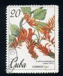 Sellos de America - Cuba -  erythria poeppigiana