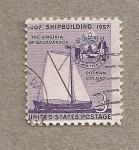 Stamps United States -  Construcción de barcos