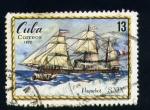 Sellos de America - Cuba -  serie- Historia maritima- Paquebot  XIX