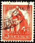 Stamps Mexico -  Monumento a la Revolución de 1910,  de la ciudad de México.