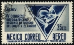 Stamps Mexico -  Mapa de Centro América y el Caribe. IV Congreso Interamericano Regional de Turismo del Golfo y El Ca