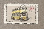 Stamps Germany -  Berlín, Autobús de 2 pisos de 1925