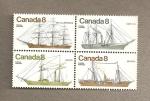 Sellos de America - Canadá -  Veleros y a vapor