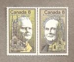 Stamps America - Canada -  Figuras iglesias protestantes