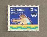 Sellos de America - Canadá -  Remo, Olimpiada Montreal