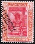 Stamps : America : Jamaica :  ARAWAN MAKING KASAWA