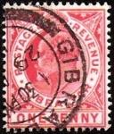 Stamps : Europe : Gibraltar :  GEORGE V - 1 P.