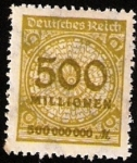 Stamps : Europe : Germany :  500 MLL. MARK