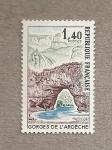 Stamps France -  Puente del Arco, gargantas del Ardèche