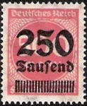 Stamps Germany -  HIPERINFLACION 250.000 M.