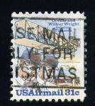 Stamps United States -  Primer avión