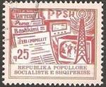 Stamps Europe - Albania -  comunicaciones, prensa, radio y television