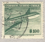 Sellos de America - Chile -  avion