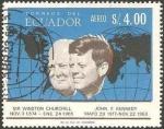 Sellos del Mundo : America : Ecuador : churchill y john f. kennedy