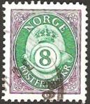Sellos de Europa - Noruega -  corona y trompeta