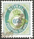 Sellos del Mundo : Europa : Noruega : corona y trompeta