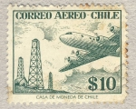 Stamps Chile -  orres electricas y avion