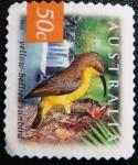 Sellos de Oceania - Australia -  Yellow-bellied sunbird