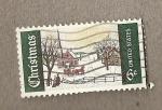 Sellos de America - Estados Unidos -  Domingo de invierno en Maine