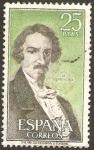 Stamps Spain -  2072 - José de Espronceda
