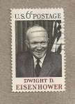 Stamps United States -  D. Eisenhower, 34 presidente de USA