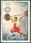 Stamps : Europe : Spain :  2099 - Olimpiada de Munich, halterofilia
