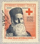 Stamps Chile -  Henry Dunant