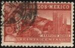 Stamps Mexico -  El señor águila y el volcán Popocatepetl.
