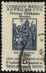 Stamps America - Mexico -  Primer Grabado hecho en México en 1514. 400 años de la imprenta en México, 1ra. en América.
