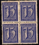 Stamps Germany -  1922 Deutches Reich: cifras