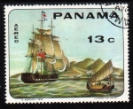 Stamps of the world : Panama :   Barcos de los siglos XVII al XIX